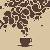 Coffee splash from a cup