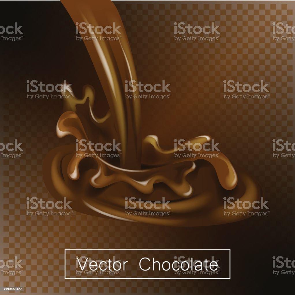 Planschen Und Wirbeln Schokolade Flüssig Für Designanwendungen ...