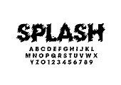 Splashy alphabet