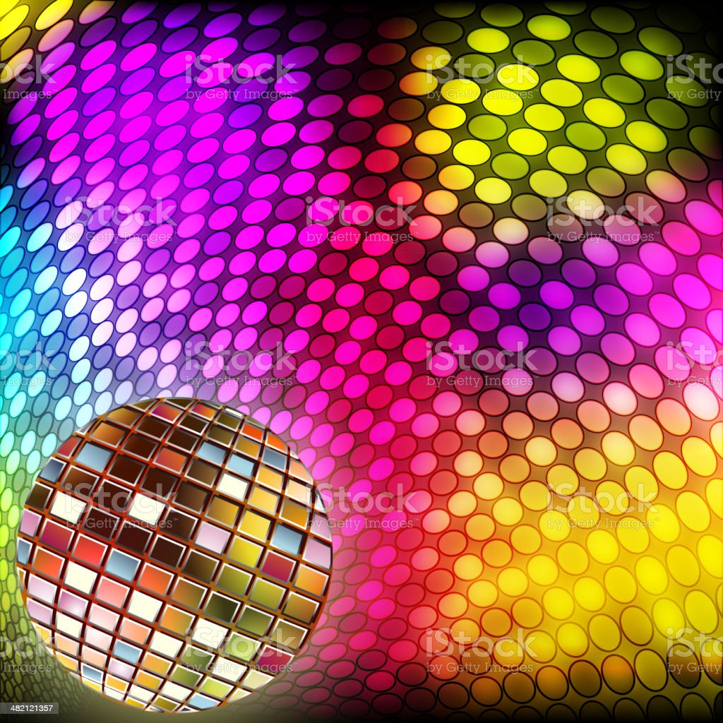 Splashy Background with Disco ball royalty-free splashy background with disco ball stock vector art & more images of abstract