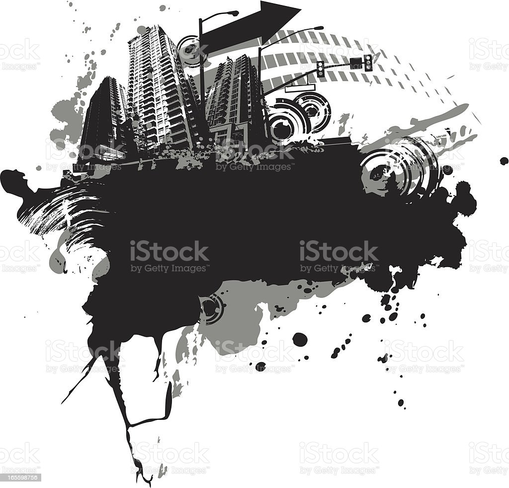 splat la ciudad ilustración de splat la ciudad y más banco de imágenes de arquitectura exterior libre de derechos