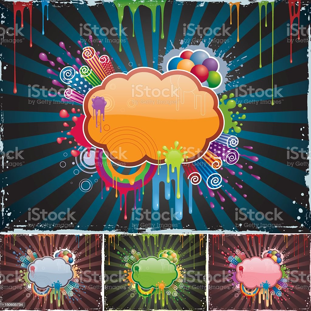 Splatter Frame vector art illustration