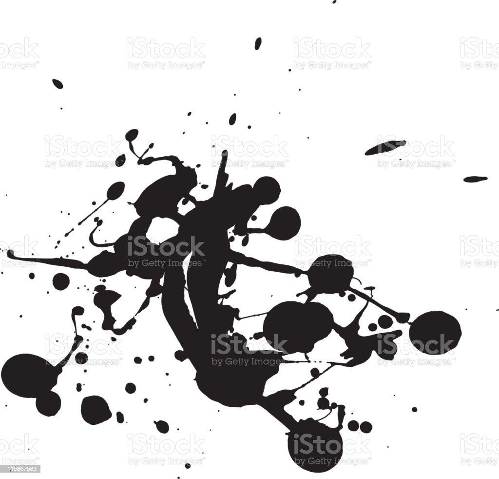 Splatter pattern royalty-free stock vector art