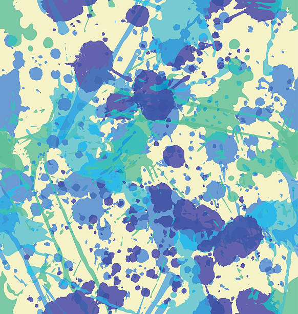 Splatter Seamless Pattern vector art illustration