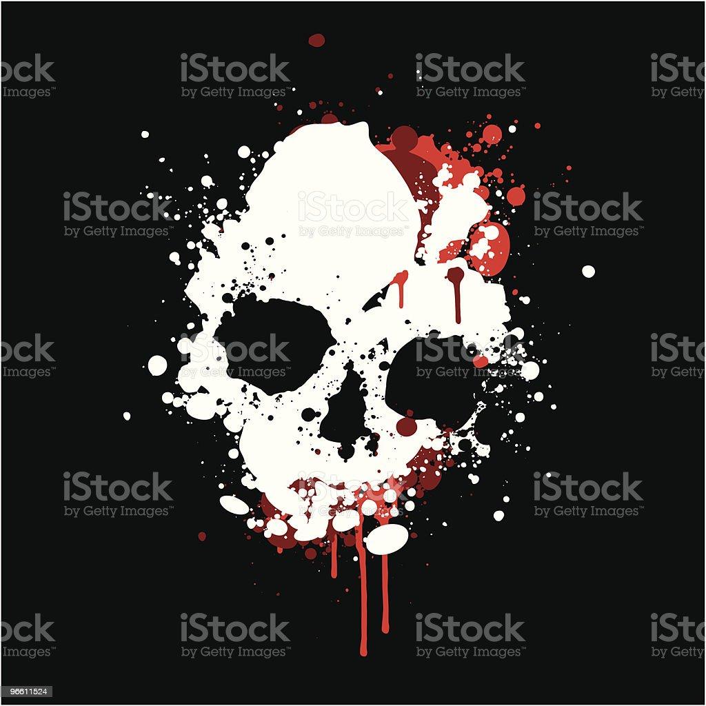 Splatter skull - Royaltyfri Digitalt genererad bild vektorgrafik