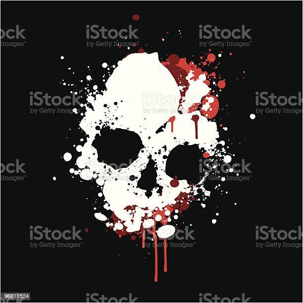 Splatter Skull-vektorgrafik och fler bilder på Digitalt genererad bild