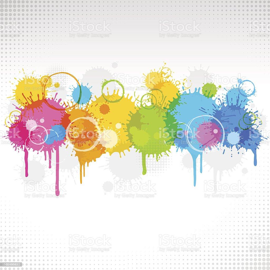 Splattered Background royalty-free stock vector art