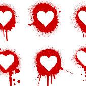 Splattered heart set