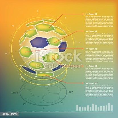 istock Split Ball – Soccer- Infographic 466763259