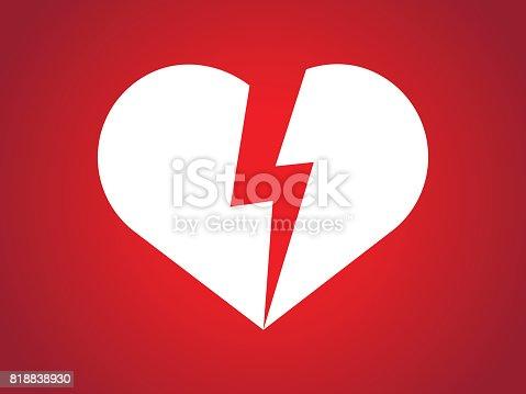Split Heart In Half Stock Vector Art More Images Of Beauty