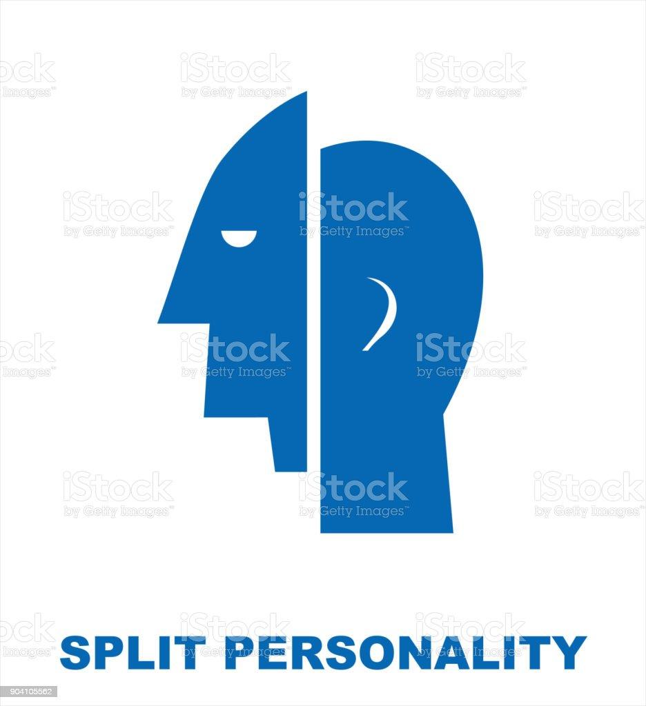 Split Personality Mental Health Stock Illustration
