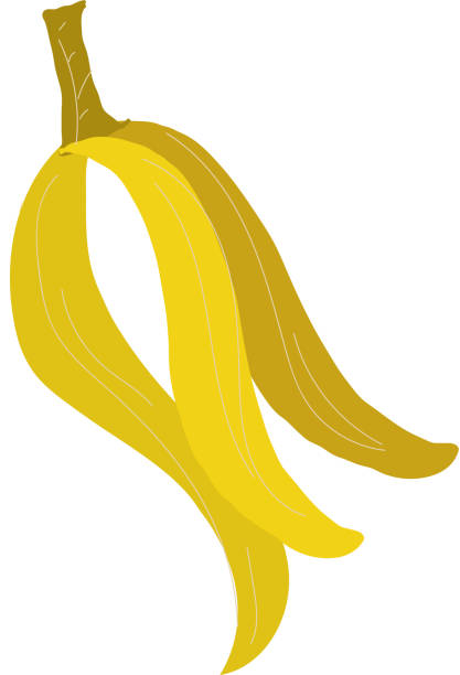 spoiled over ripe banana food scrap compostable product icon - composting stock illustrations