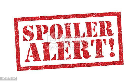 Vector illustration of the word Spoiler Alert in red ink stamp