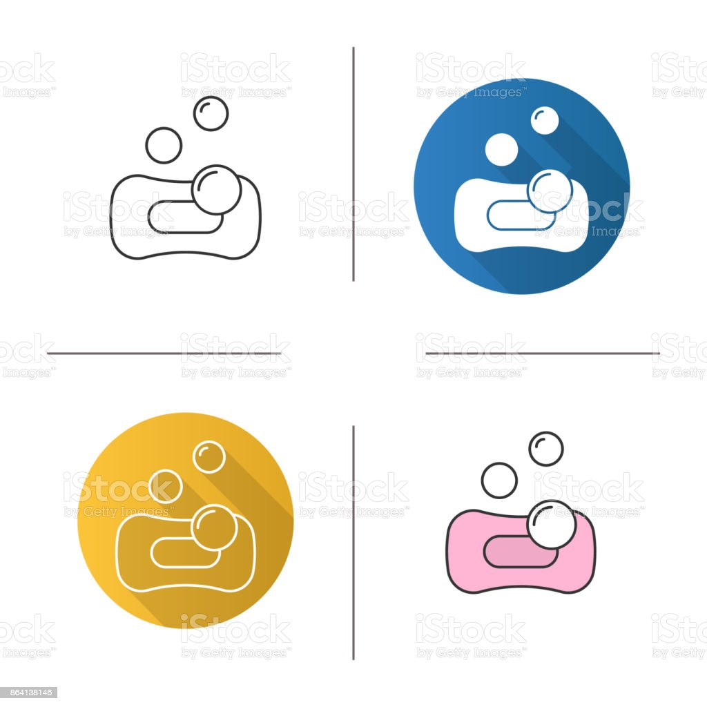 Sponge with bubbles icon royalty-free sponge with bubbles icon stock vector art & more images of bathroom