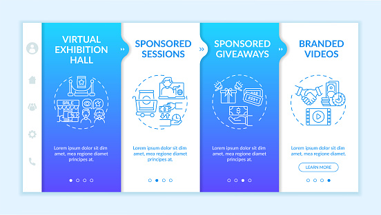 Sponsorship remote events onboarding vector template