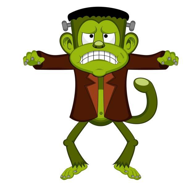 Spooky Big Green Monster Spooky Big Green Monster - full color lagbok stock illustrations