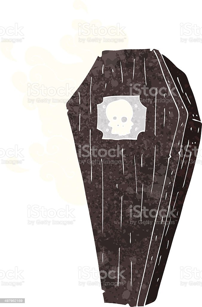 spooky cartoon coffin royalty-free stock vector art