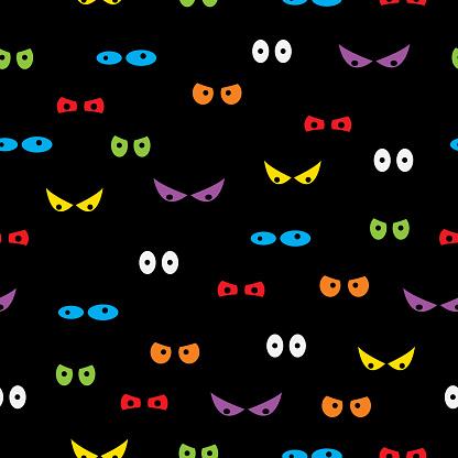 Spooky Eyes Seamless Pattern