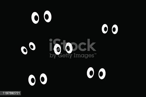 istock Spooky eyes. Seamless wallpaper 1197592721