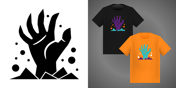 Spooky halloween design elements for t-shirt.