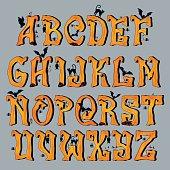 Spooky Halloween Font Capital Letters