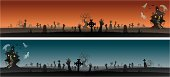 Variation of Haunted scenery, seamless tile horizontally. More Halloween Series Lightbox