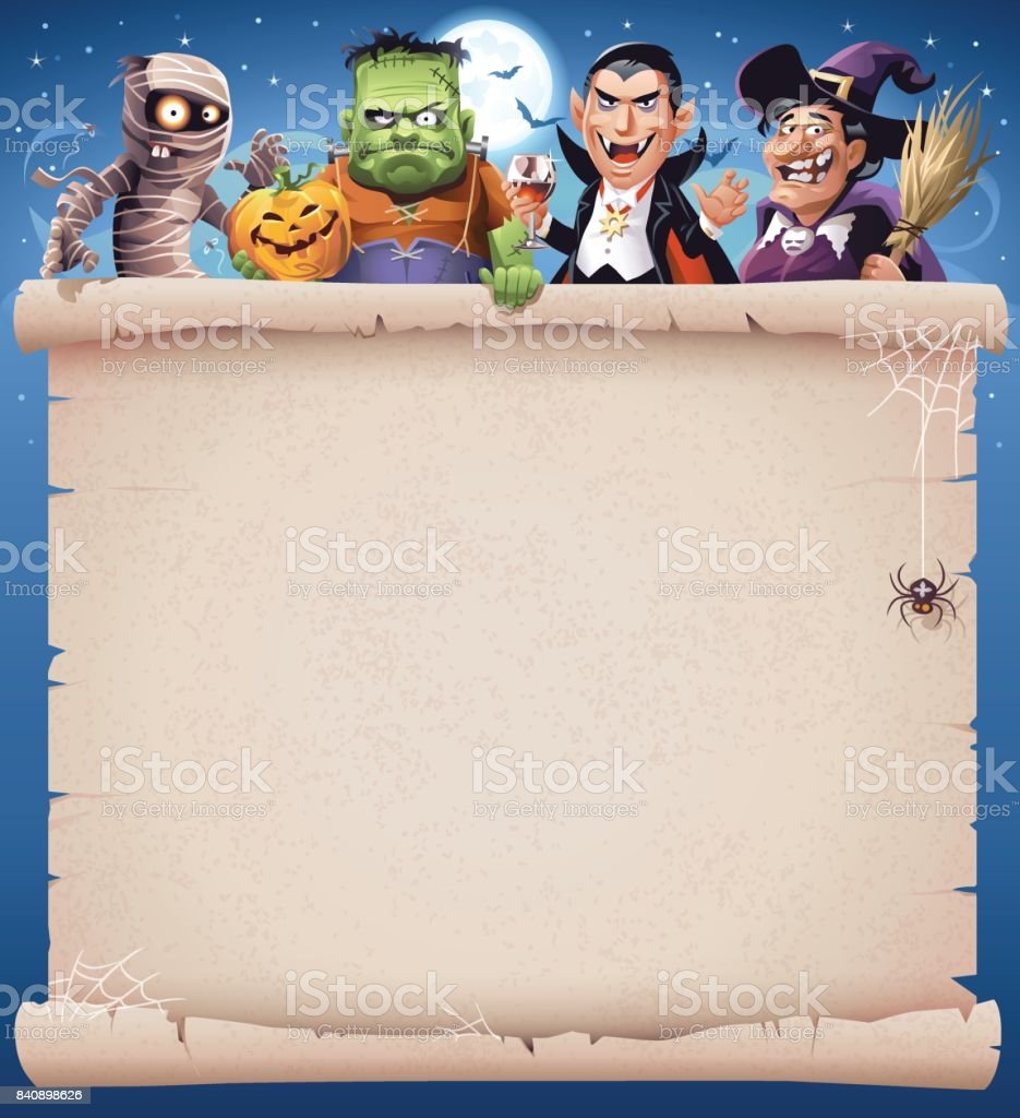 Spooky Halloween Party vector art illustration