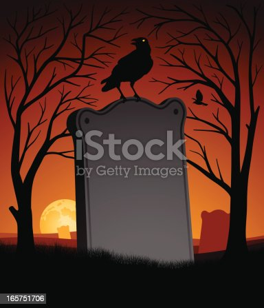Spooky Halloween Scene with copy space.