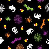 istock Spooky Halloween Seamless Pattern 1179919308