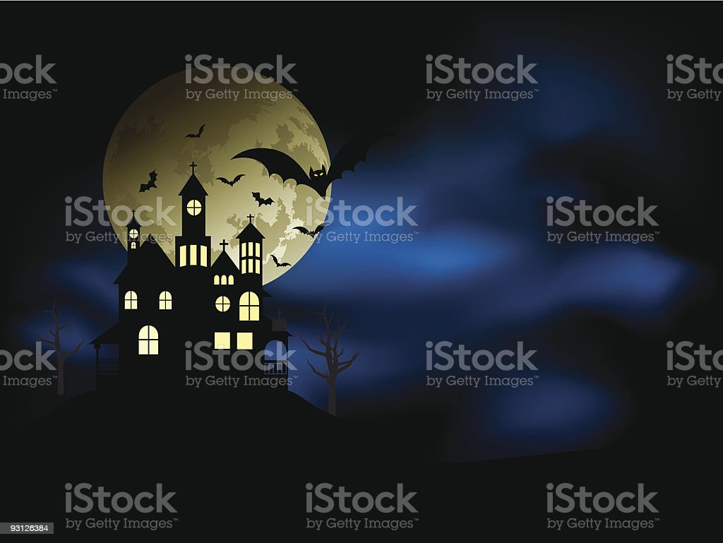 Spooky haunted house royalty-free spooky haunted house stock vector art & more images of autumn