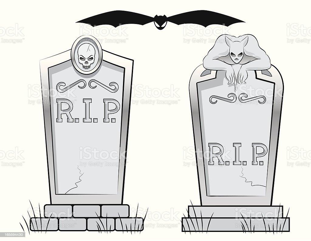 Spooky Headstones royalty-free stock vector art