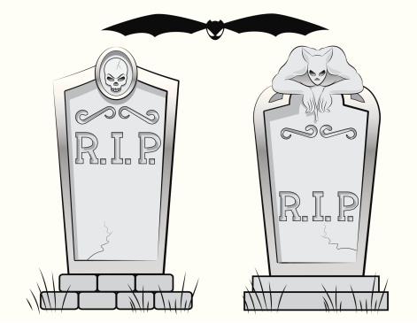Spooky Headstones