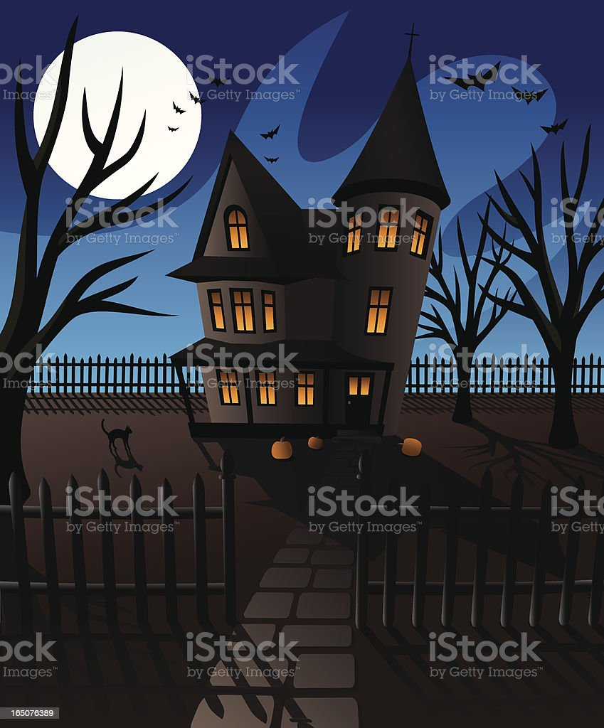 Spooky House on Halloween royalty-free spooky house on halloween stock vector art & more images of abstract