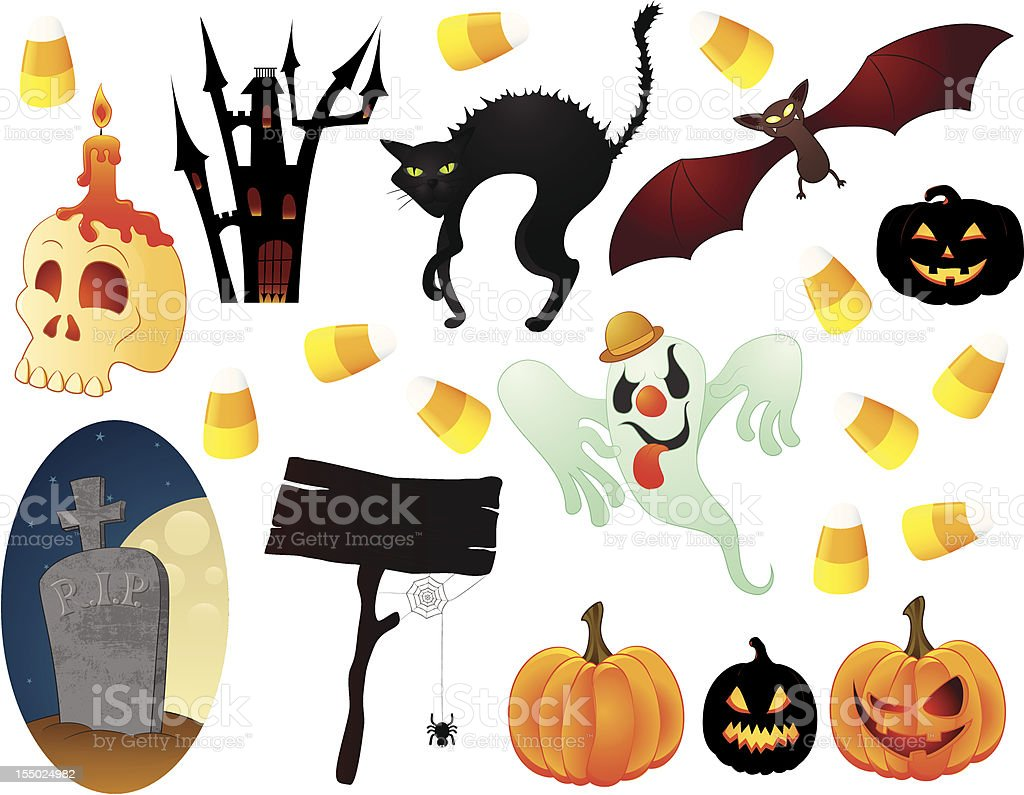 Spooky icons royalty-free spooky icons stock vector art & more images of bat - animal