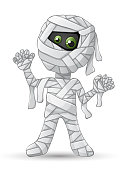 Spooky mummy for Halloween isolated