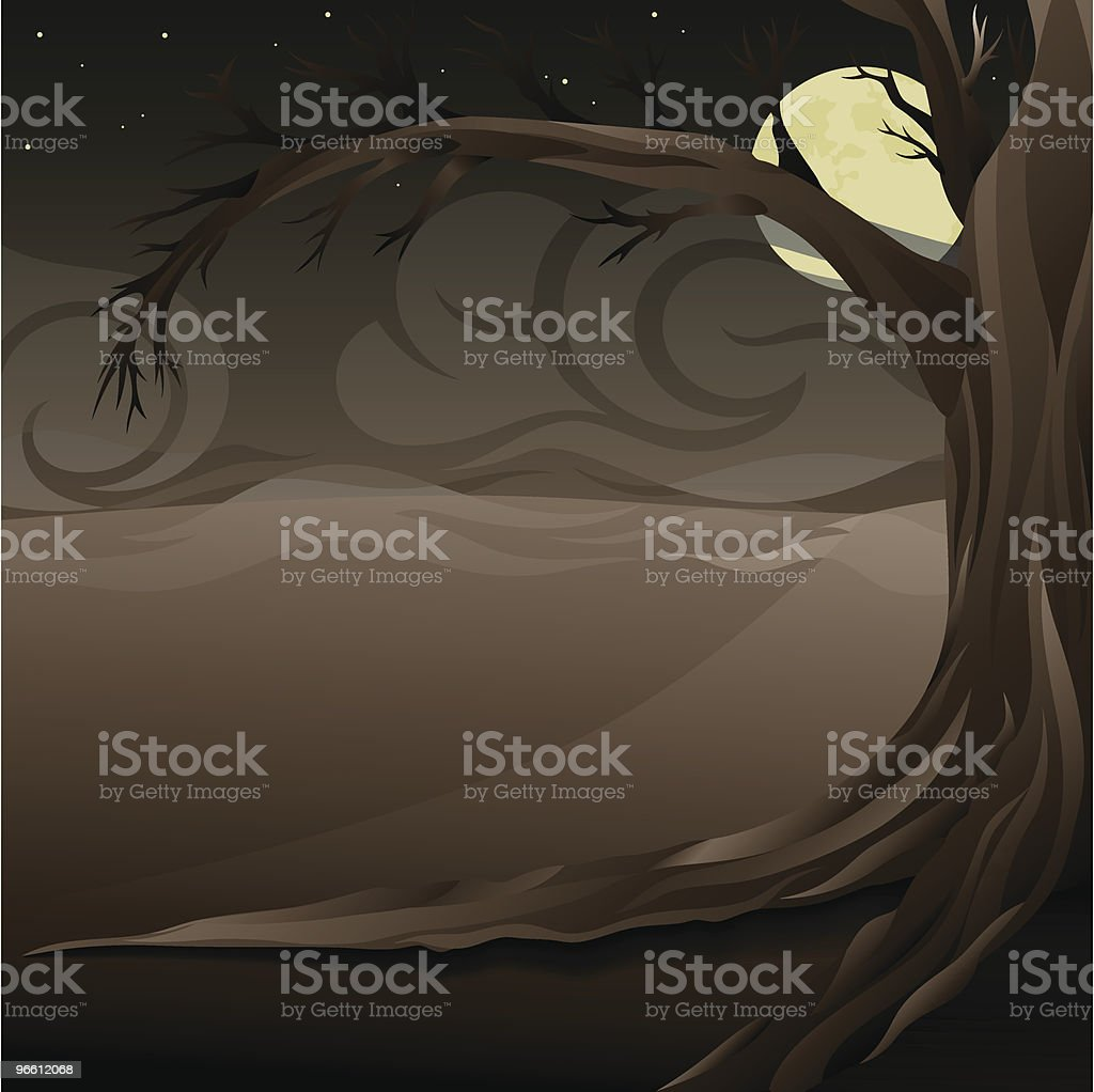 Spooky night scene - Royalty-free Agricultural Field stock vector