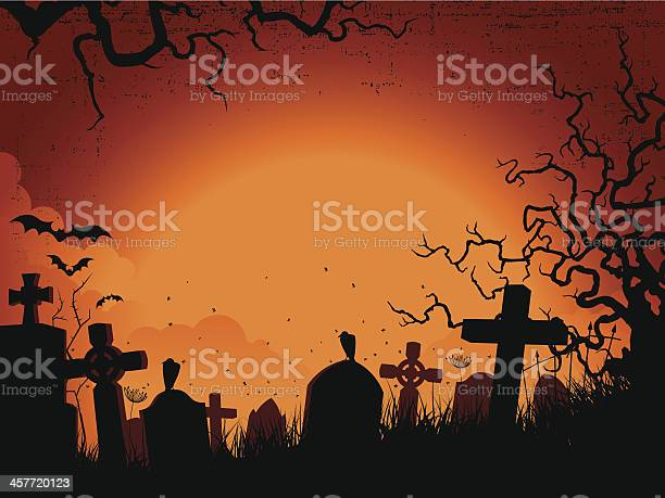Spooky orange and black silhouette graveyard background vector id457720123?b=1&k=6&m=457720123&s=612x612&h=iovaiifjbduluku dksuoivn1dnq0oo1aur3kanborc=