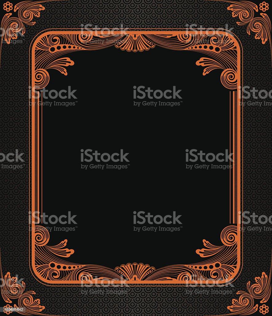 Spooky Orpheum Frame royalty-free stock vector art