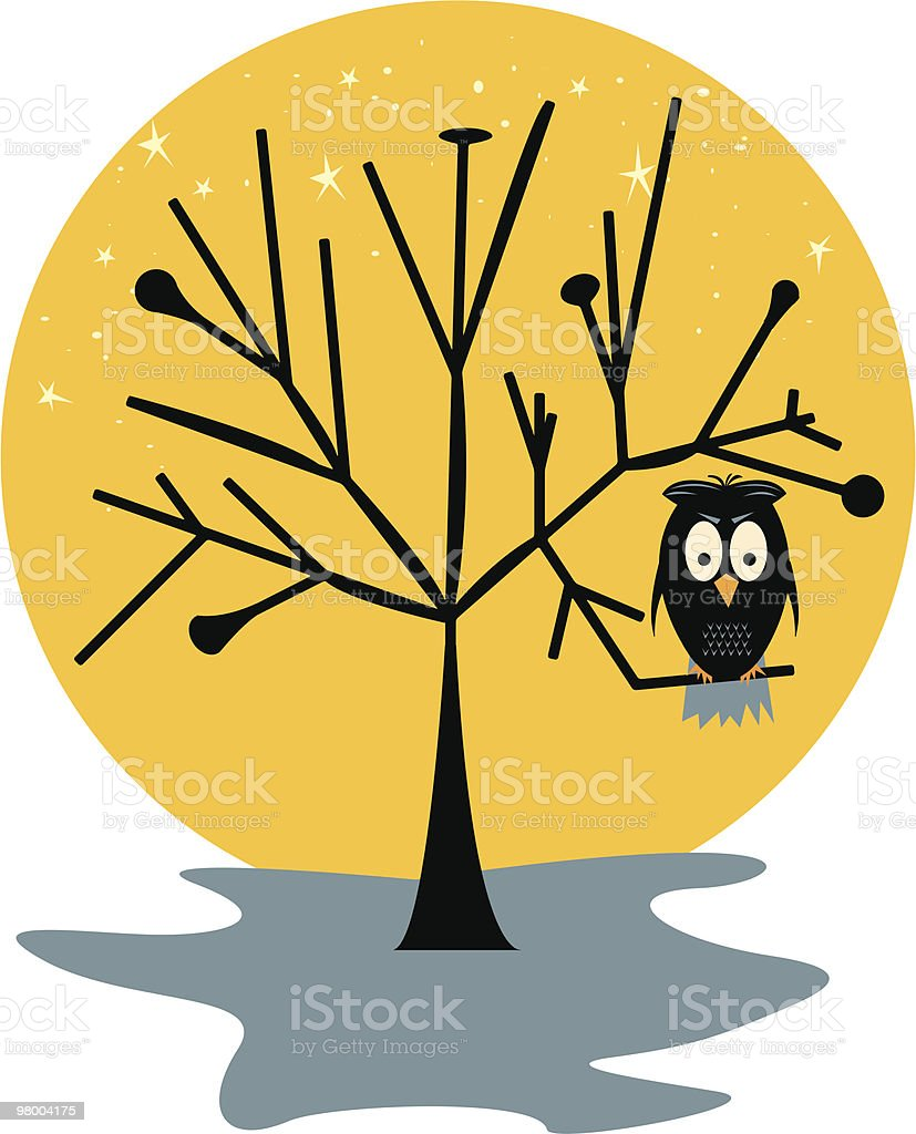Spooky Owl royalty-free spooky owl stock vector art & more images of bird