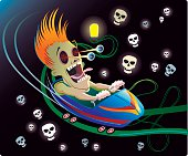 Spooky Roller Coaster Ride