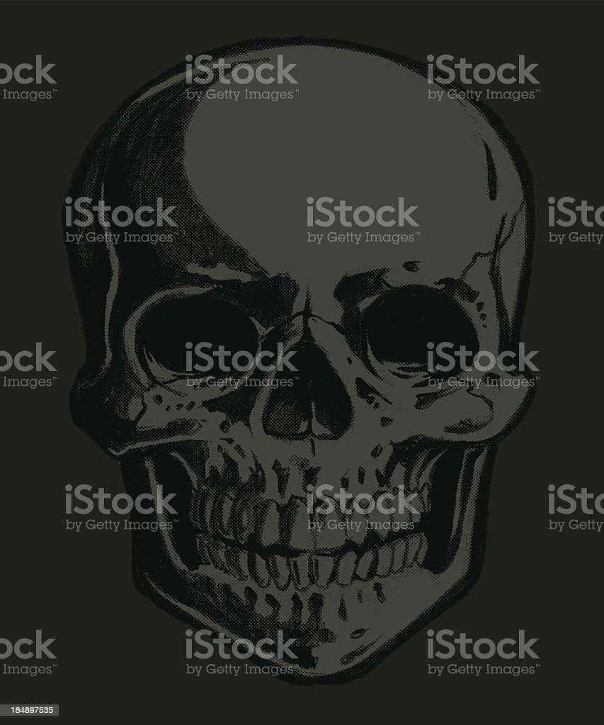 spooky skull royalty-free spooky skull stock vector art & more images of 1940-1949