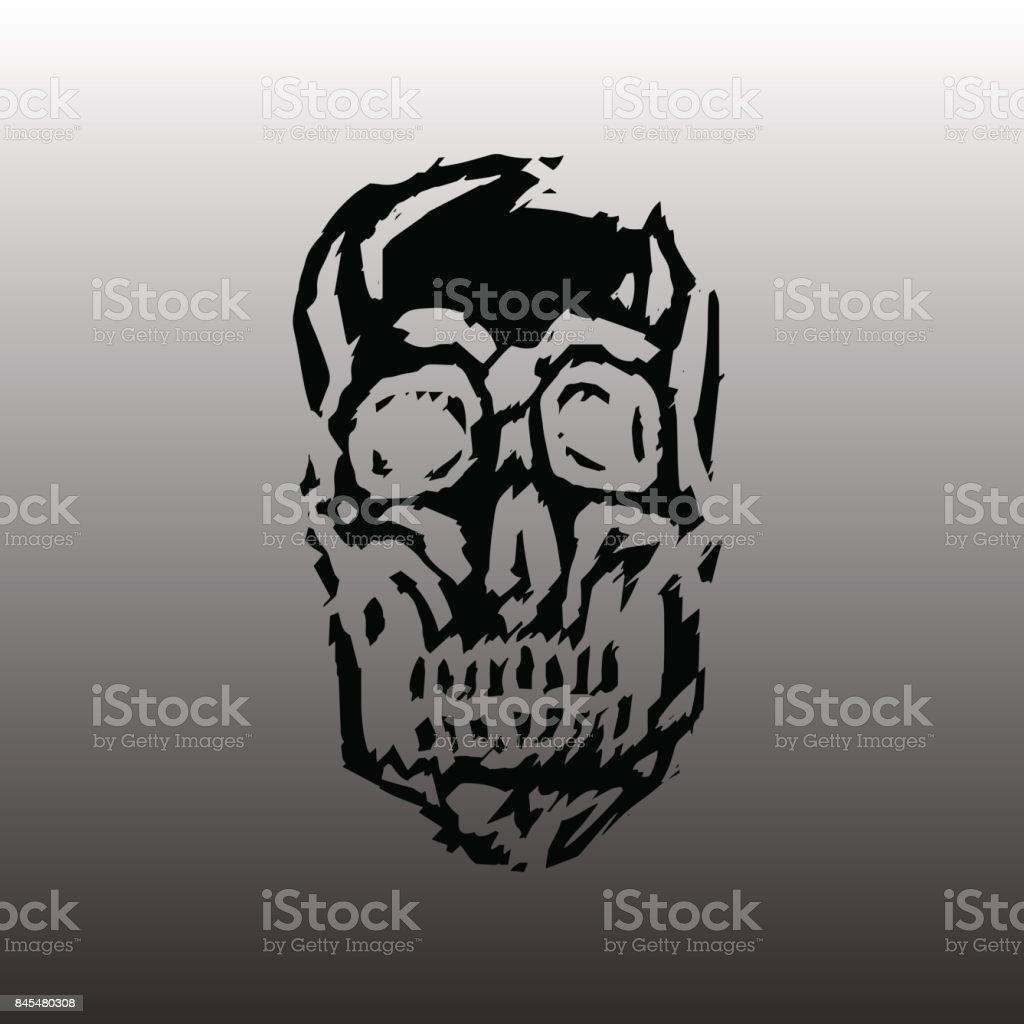 Spooky skull vector illustration. vector art illustration