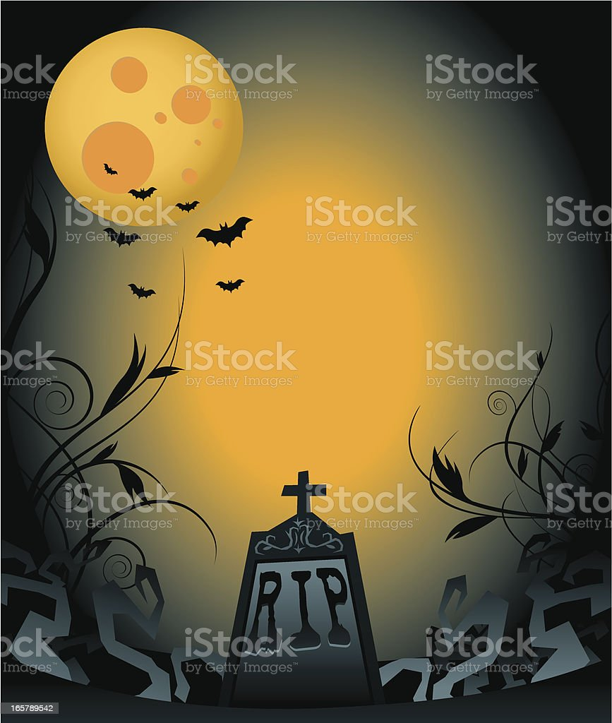 Spooky Tombstone royalty-free spooky tombstone stock vector art & more images of animal markings