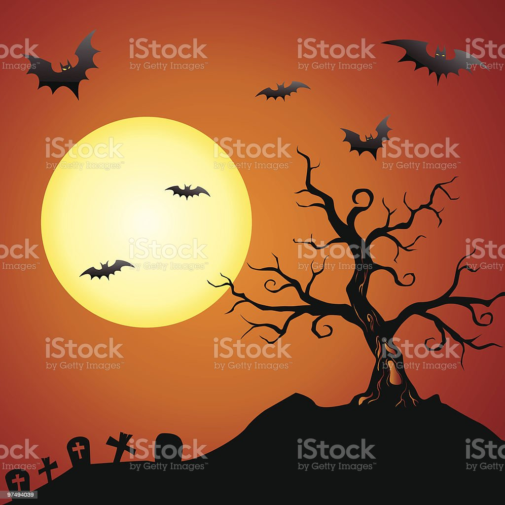 Spooky Tree Background royalty-free spooky tree background stock vector art & more images of backgrounds
