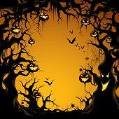 Spooky Tree Border