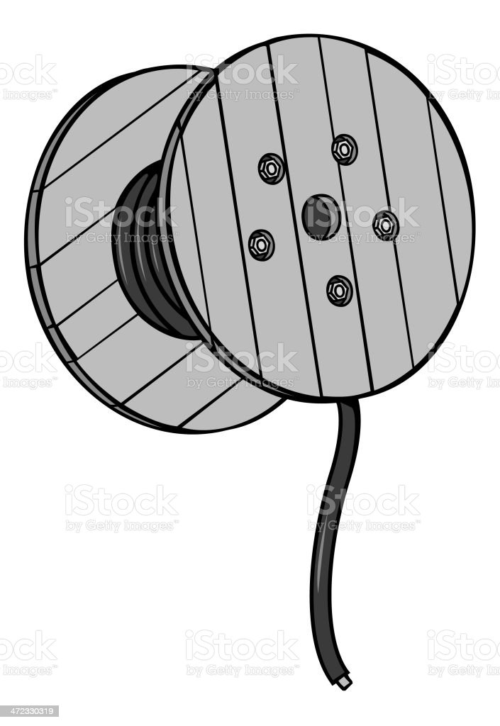 Spool Of Wire Stock Vector Art & More Images of Black And White ...