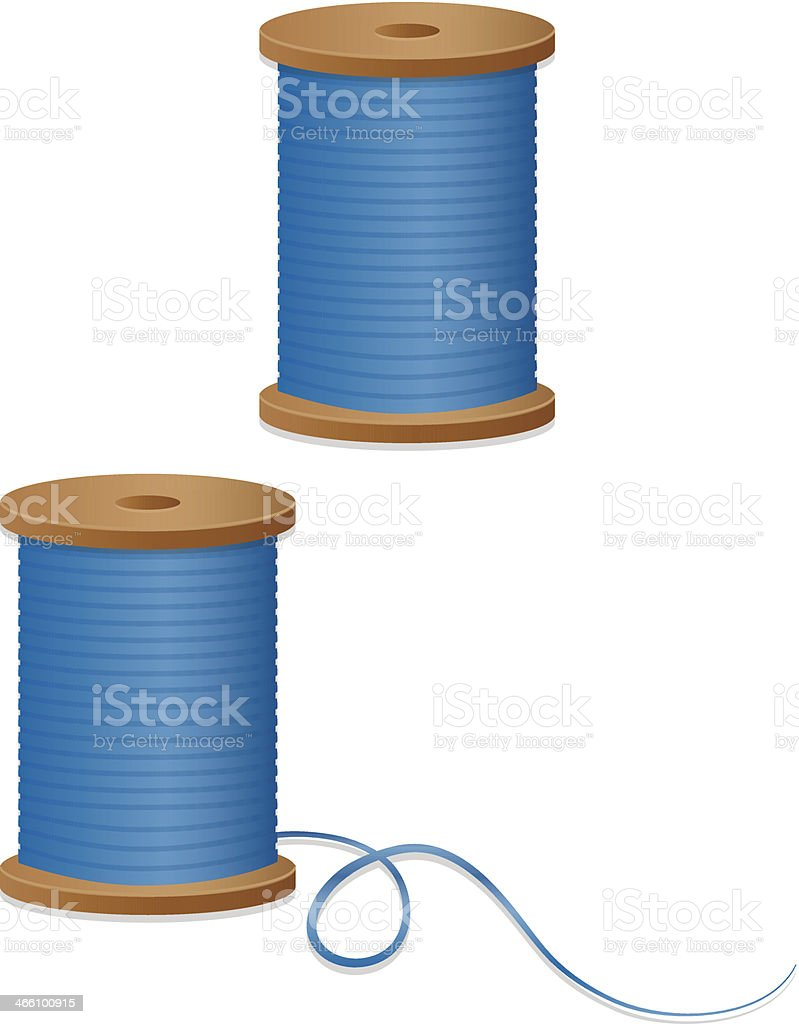 Spools of Sewing Thread Design Elements, Icons vector art illustration