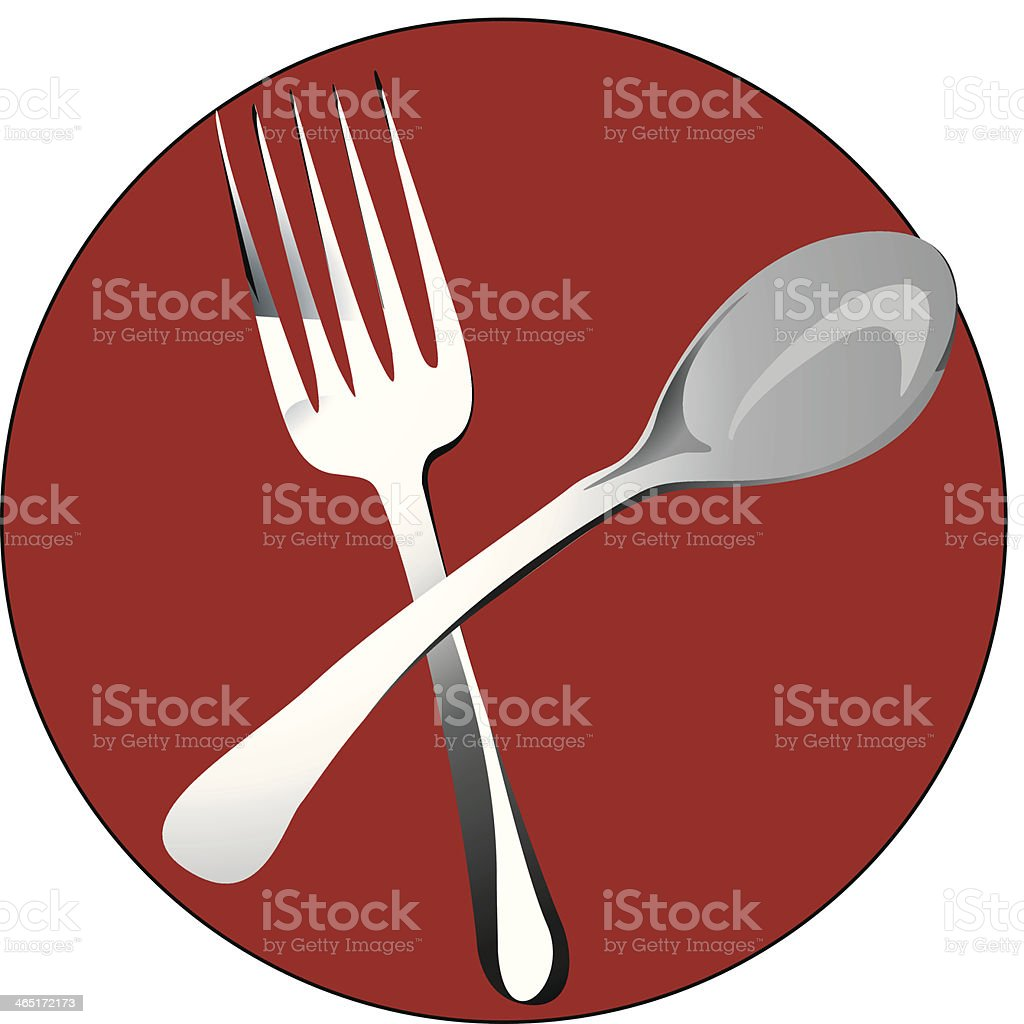 Spoon and fork royalty-free stock vector art