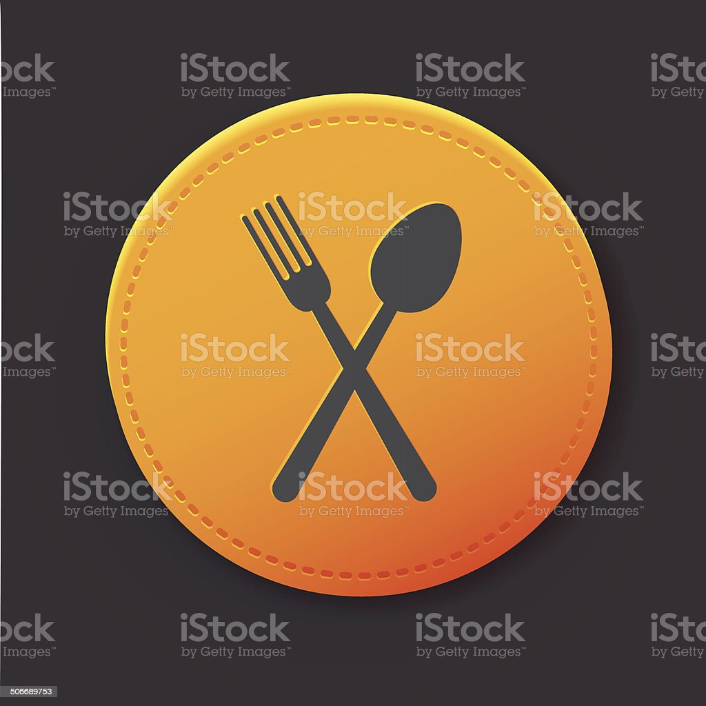 Spoon button,clean vector royalty-free stock vector art