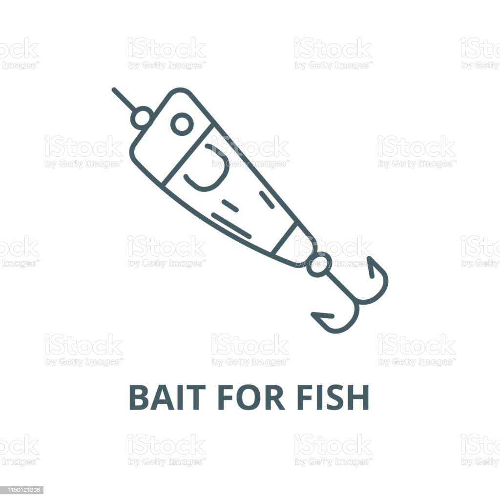 Spoon Fishingbait For Fish Vector Line Icon Linear Concept Outline